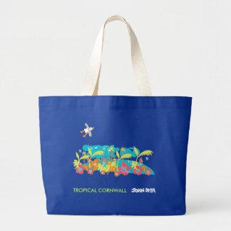 Art Bag: John Dyer Tropical Cornwall. Blue Eco Bag