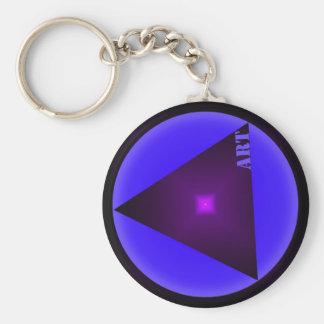 art basic round button key ring