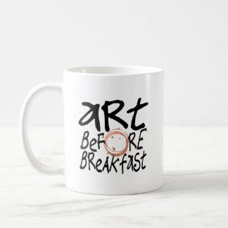 Art Before Breakfast mug