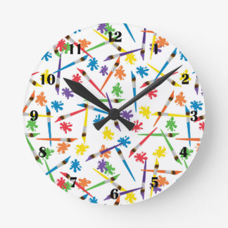 Art Brushes Clock