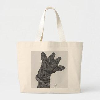 "Art by Imani ""Giraffe Labyrinth"" Jumbo Tote Jumbo Tote Bag"