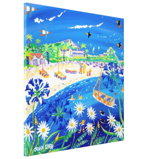 Art Canvas Print: Puffin Days Tresco, Scilly Isles