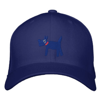 Art Cap: Bella Scotty Dog and Signature Blue Embroidered Hat