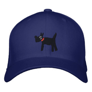 Art Cap: Bella Scotty Dog Embroidered Hats