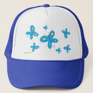 Art Cap: Blue Butterflies Trucker Hat