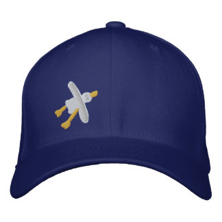 Art Cap: Embroidered Cornish Seagull Cap Embroidered Baseball Cap