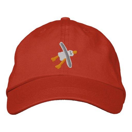 Art Cap in red Seagull Design by John