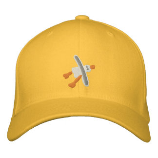 Art Cap in Yellow Seagull Design by John Dyer Embroidered Hats