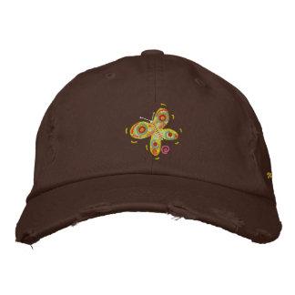Art Cap: John Dyer Chocolate Cap Yellow Butterfly Baseball Cap
