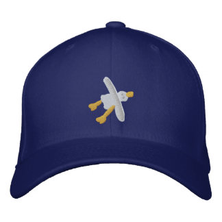 Art Cap: Seagull Design and BeachyTreats Embroidered Hat