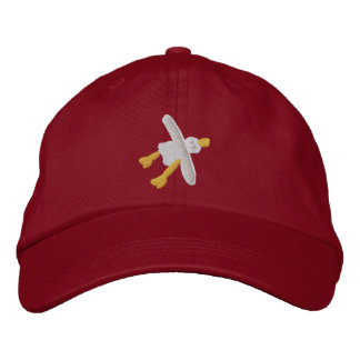 Art Cap: Smart Seagull Design Embroidered Hat