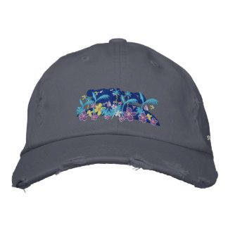 Art Cap: Tropical Moonlight and Signature Embroidered Hat