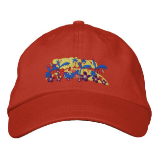 Art Cap: Tropical Morning Embroidered Hat