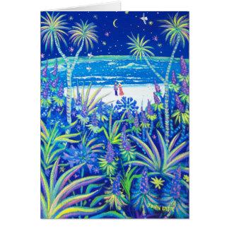 Art Card: Beach Cottage Garden Love Greeting Card