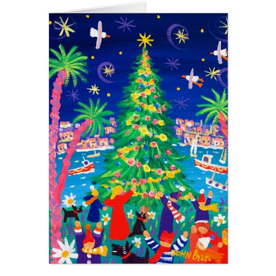 Art Card: Christmas Lights and Carol Singers Card
