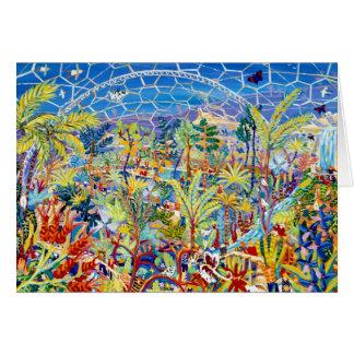 Art Card: Garden of Eden. The Eden Project, UK Greeting Card