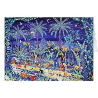 Art Card: Glowing with Colour, Tresco Abbey Garden Greeting Card