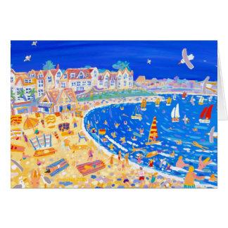 Art Card: Gylly Beach Cafe. Fun on the Beach Card