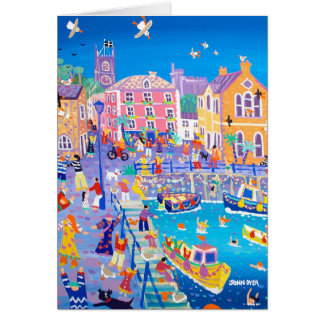 Art Card Happy Holidays, Fowey by John Dyer