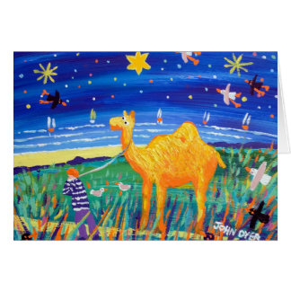 Art Card: Humpy Cornish Camel Christmas Card