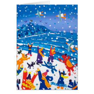 Art Card: Jumping for Snowflakes Greeting Card