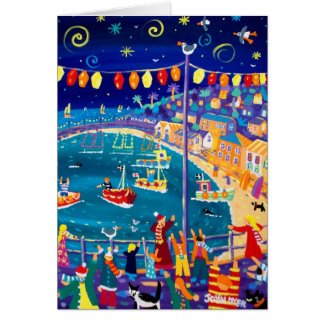 Art Card: Lanterns and Lights, Mousehole Greeting Card