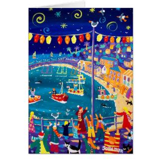 Art Card: Lanterns & Lights,Mousehole by John Dyer Card