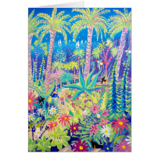 Art Card: Painting the Garden, Tresco Abbey Garden Greeting Card