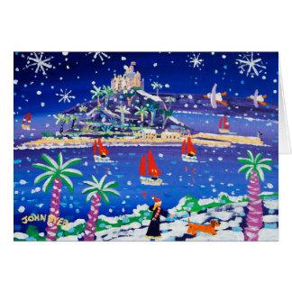 Art Card: Sailing through the Snow Greeting Card
