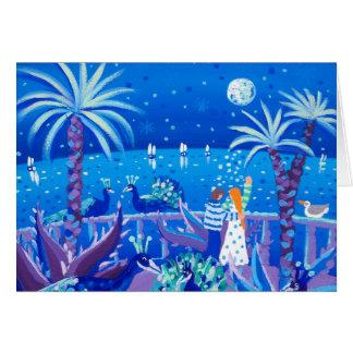 Art Card: Saphire Peacock Love, Côte d'Azur Card