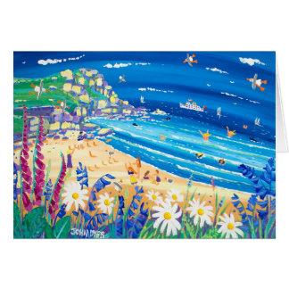 Art Card Secret Seaside Treats Porthchapel Beach