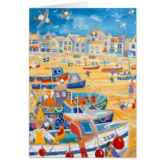 Art Card: St Ives Harbour, Cornwall Greeting Card