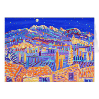 Art Card: Stars Twinkling over the valley Rasteau. Greeting Card