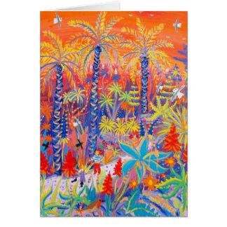 Art Card Strolling under a Red Hot Sunset Tresco