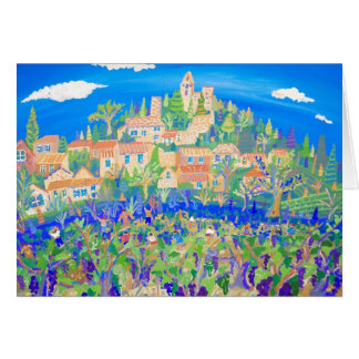 Art Card: The Grape Harvest, Rasteau, Provence Card