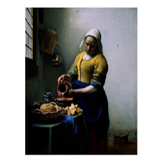 Art Card - The Kitchen Maid by Johannes Vermeer Post Cards