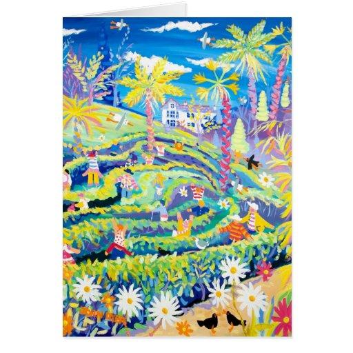 Art Card: The Maze at Glendurgan Garden Cornwall