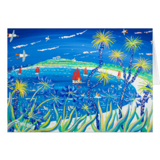 Art Card: Wiggly Palms and Agapanthus, Tresco Greeting Card