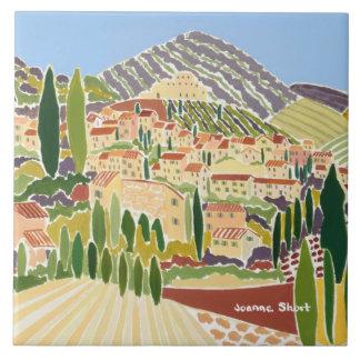 Art Ceramic Tile: Joanne Short, Provence Large Square Tile