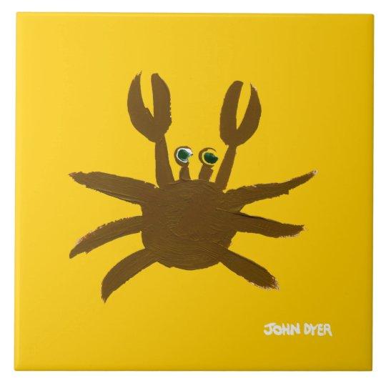 Art Ceramic Tile: John Dyer Cornish Crab Large