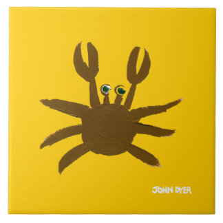 Art Ceramic Tile: John Dyer Cornish Crab Tile