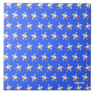 Art Ceramic Tile: John Dyer. Cornish Seagulls Tile