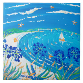 Art Ceramic Tile: John Dyer Scilly Blue View Tile