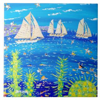 Art Ceramic Tile: John Dyer. Tuiga, Classic Monaco Large Square Tile