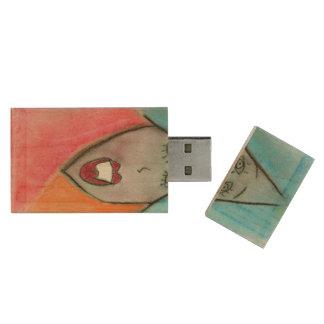 Art, Chalk Drawing 1, wooden USB flash drive Wood USB 3.0 Flash Drive