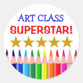 Art Class Superstar Round Sticker