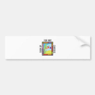 Art Classes Bumper Sticker