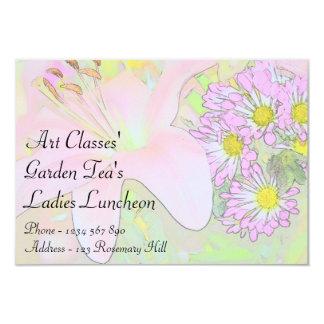 Art Classes Ladies Luncheon Garden Tea's 9 Cm X 13 Cm Invitation Card