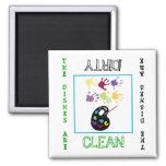 Art Clean Dirty Dishwasher Magnet