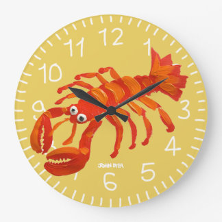 Art Clock: John Dyer Cornish Lobster. Padstow Clocks